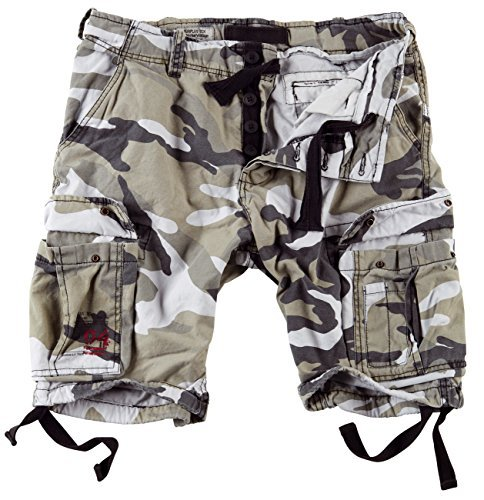 Surplus Uomo Airborne Vintage Pantaloncini Lavati Urban taglia XXL 2db6f67ac9