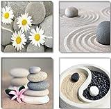 Visario Imagen & de impresión de la marca alemana 4x 30x 30cm 6607imágenes sobre lienzo Impresiones Artísticas Spa piedras–cuadro