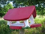 Original Die Vogelvilla, Futterscheune, Futterhaus, Vogelhaus, weiss rot