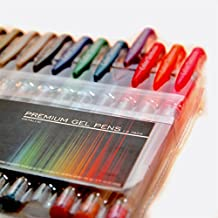 Metallic Gel Pens from Color Technik, Set of 12 Professional Artist Quality Gel Pens. Best Gel Pen Colors with Comfort Grip. Enhance Your Adult Coloring Book Experience Now! Perfect Gift Ideas!