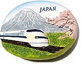Japanese Bullet Train Mount Fuji Japan 3D Resin TOY Fridge Magnet Free Ship