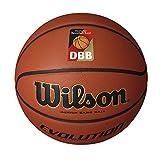 Wilson Indoor-Basketball, Wettkampf, Sportparkett, Größe 7, EVOLUTION, Braun, WTB0516XBDBB