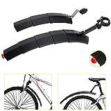 WeyTy Fahrrad Spritzschutzset, einziehbares Mountainbike Schutzblech aus umweltfreundlichem Kunststoff, Vorne & Hinten Kotflügel für 23