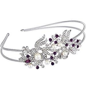 Ever Faith® österreichischen Kristall künstliche Perle elegant Braut Haarband