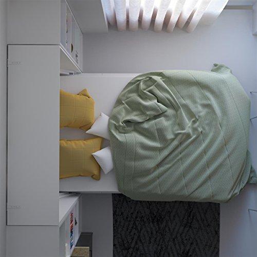 SMARTBett Basic 140×200 Vertikal Weiss Schrankbett | ausklappbares Wandbett, ideal geeignet als Wandklappbett fürs Gästezimmer, Büro, Wohnzimmer, Schlafzimmer - 9