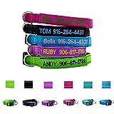 Graceful life Personalisierbares Hundehalsband, Bestickt mit Name, Telefon Halsband, 3 verstellbare Größen: X S, S, M, L
