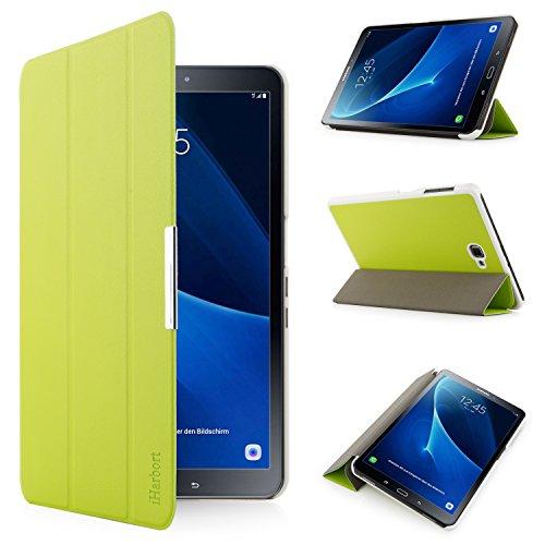 iHarbort® Premium Hülle für Samsung Galaxy Tab A 10.1 (SM-T580/T585) - Samsung Galaxy Tab A 10.1 hülle Etui Schutzhülle Case Cover Holder Stand mit Smart Auto Wake/Sleep-Funktion (Grün)
