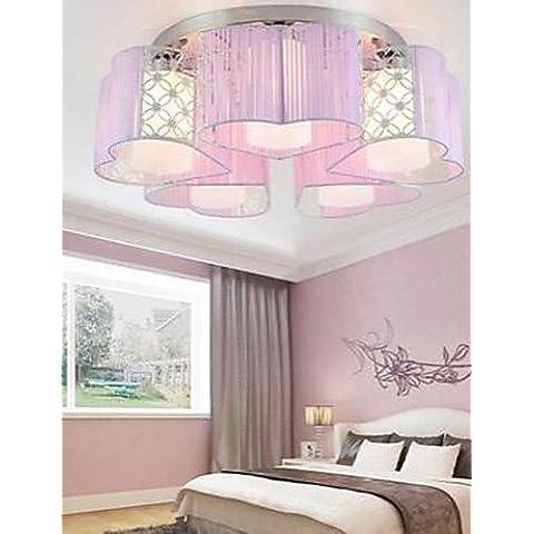 Disegno di Moda Tessuto arte di scolpire i modelli o i disegni sul LED di falegnameria Salotto pelle luce assorbono la luce plafoniera , giallo- 90V-240V