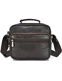 8243521f6ee6 Mynos Genuine Leather Men Crossbody Bag Vintage Brown Messenger Shoulder Bag  Man Purse Briefcase Handbag