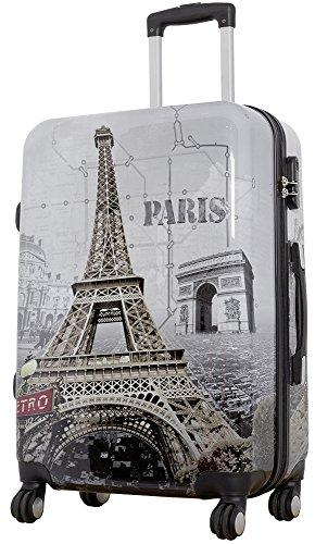 1 Koffer Hartschale Größe L Design Eiffelturm Paris Material Polycarbonat Trendyshop365