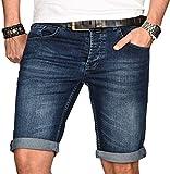 A. Salvarini Herren Designer Jeans Short Kurze Hose Slim Sommer Shorts Bermuda [AS-108-W31]