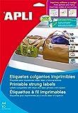 APLI 11947 Color blanco 400pieza(s) - Etiqueta autoadhesiva (Color blanco, 36 mm, 53 mm, 400 pieza(s), 50 hojas)