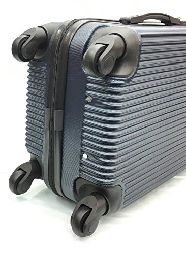 2c0d1c594 EasyJet, British Airways, Monarch & Jet 2 Cabin Approved Super Lightweight  Hardshell ABS Hand Luggage Trolley 4 Wheeled Spinner Luggage Bag - FITS  WITHIN ...