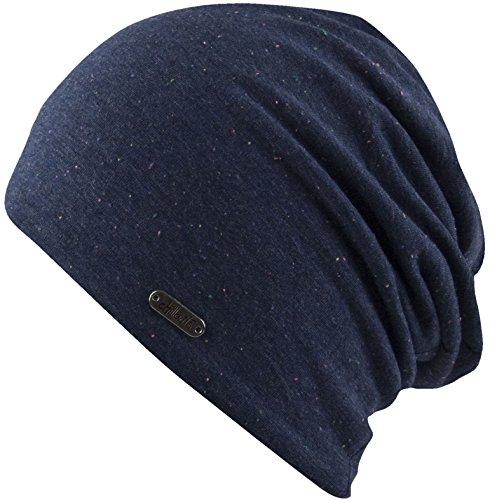 Feinzwirn - Bonnet - Femme gris washed blau taille unique Navy Melange