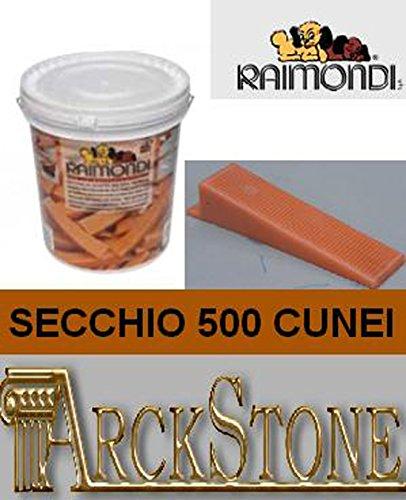 ARCKSTONE Secchio da 500 cunei pavimento piastrella mattonella rivestimento Raimondi Levelling System (Pinza Delle Mattonelle)