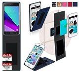 reboon Hülle für Samsung Galaxy J2 Tasche Cover Case Bumper | Blau | Testsieger