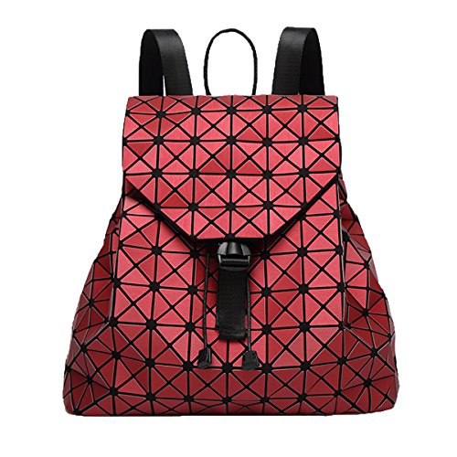 Sacchetto Di Spalla Del Taccuino Del Diamante Del Sacchetto Di Cuoio Dell'unità Di Elaborazione Di Modo Delle Donne Sacchetto Daypack Multicolore Red