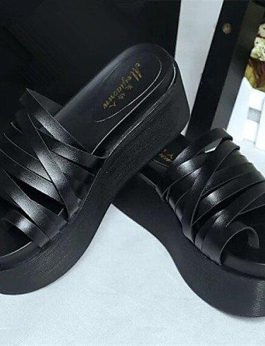 LFNLYX Chaussures Femme - Habillé - Noir / Rose / Blanc - Talon Plat - Bride Orteil - Chaussons - Similicuir Pink