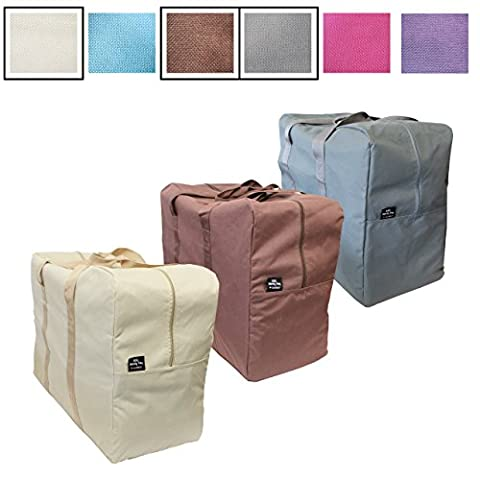 Laundry Bags / Storage Bags for Clothes, Duvet and Bedding Storage, Toy Storage, Moving Bags - Large Laundry / Storage Bags with Zips - Big Handy Bag by Luxelu (3 pack -