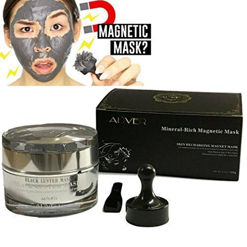 aliver Riche, mineral magnético máscara facial limpieza de poros para eliminar piel impuretés con hierro a base de piel Revitalisant magnético âge-defier fórmula 50ml