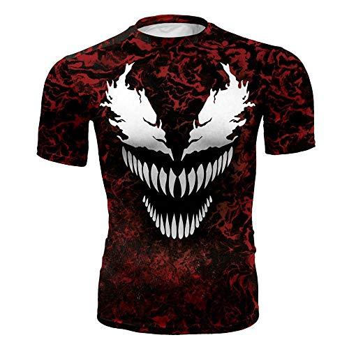 84ff01114b36 WENHUI Venom T-Shirt,Men's Tight Fitness Shirt,Short Sleeve T-Shirt,Fitness  Cosplay Men Tops A-L