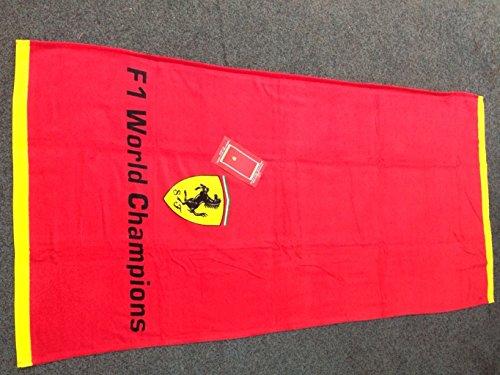 Ufficiale Ferrari telo da mare, asciugamano, asciugamano da bagno rosso-molto alta risoluzione stampa con formule 1World Championship-ca. 81x 163cm
