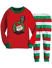 Gazechimp Set de Ropa para Niños de Patrón Papá Prensa Raya Pijamas Cómodos Lindo de Algodón Desgaste de Noche de Unisexo de Multicolor