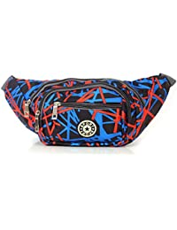 Lines Waist Pack Pouch For Outdoor Travel Belt Bag