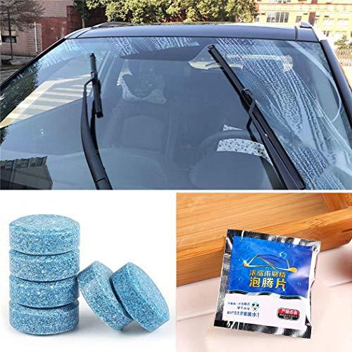 Kaimus Limpiador de vidrios de Autos sólidos Limpiador de limpiaparabrisas Concentrado tabletas efervescentes Cuidado de Coche y Moto