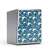 Kühlschrank-Druck 60 x 80 cm   Sticker Aufkleber Folie Wandposter XXL Wohnen und Dekorieren   Design Motiv Große Welle