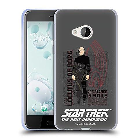 Officiel Star Trek Locutus de Borg Personnages Iconiques TNG Étui Coque en Gel molle pour HTC U