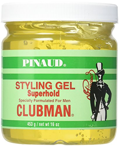 Clubman Style Gel Super Hold 473 ml Jar For Men (Haargel) (Clubman Shampoo)