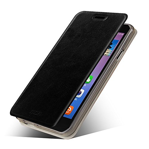 Mofi Flip Case for Micromax Yureka Yu with Innovative Flip-stand Design - Made of Lightweight 100% PU Leather + Precision Cut Out Ports for Easy Phone Access-Breathable, Moisture Resistant & Offers Excellent Protection against Scratches & Drops