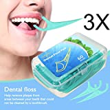 Hilo Dental, LuckyFine Dental Floss para Interdental Oral Limpieza 180 Piezas