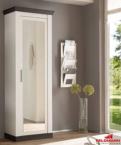 Garderobenschrank Dielenschrank mit Spiegel 440960 pinie weiß  wenge 73cm