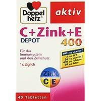Preisvergleich für Doppelherz Vitamine C und E mit Zink Depot. 1er Pack I(40 Tabletten)