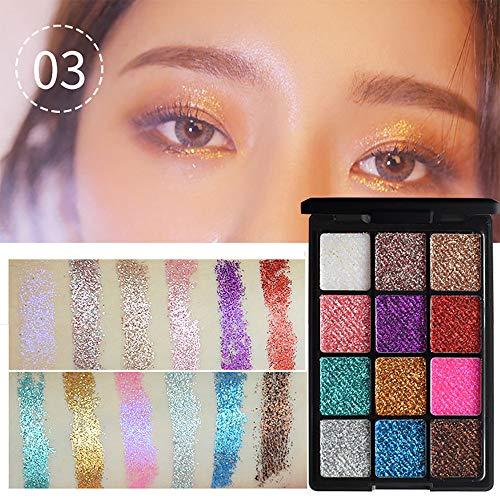 Quann 12 Farbe Schimmern Funkeln Auge Schatten Pulver Palette Matt Lidschatten Kosmetik Bilden
