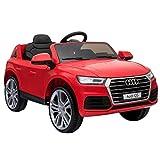 Homcom Kinderauto Kinderfahrzeug Elektroauto Audi Q5 mit Fernbedienung Kinder Rot 116 x 75 x 56cm