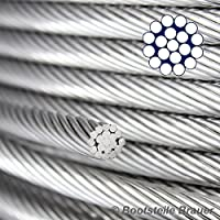 10metri rigida 1x 19in acciaio inox filo corda, diametro 2mm, in corda in acciaio (1 Metro In Acciaio Inox)