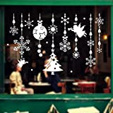 Eenkula Weihnachtsaufkleber, Dekoration fürs Wohnzimmer, Fenster oder die Wand.