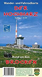 Der Hochharz - wetterfest: Wander- und Fahrradkarte rund um den Brocken 1:30000