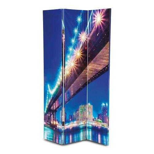 Kare Design Paravent Raumteiler Bridge mit LED-Beleuchtung