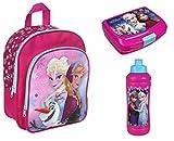 Familando FRQA7601 Disney`s Eiskönigin 3tlg. Set Rucksack mit Brotdose und Trinkflasche z.B. für Den Kindergarten