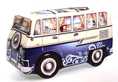 Blechdose Keksdose Deko Box Auto Camper Bulli blau