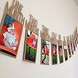 Foto Banner ,Frashing Kindergeburtstag Geschenk Dekorationen 1-12 Monat Foto Banner Monatliche Foto Wand