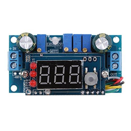 MagiDeal 5A MPPT Solar Panel Controller DC-DC Step-down CC/CV Charging Module Display LED