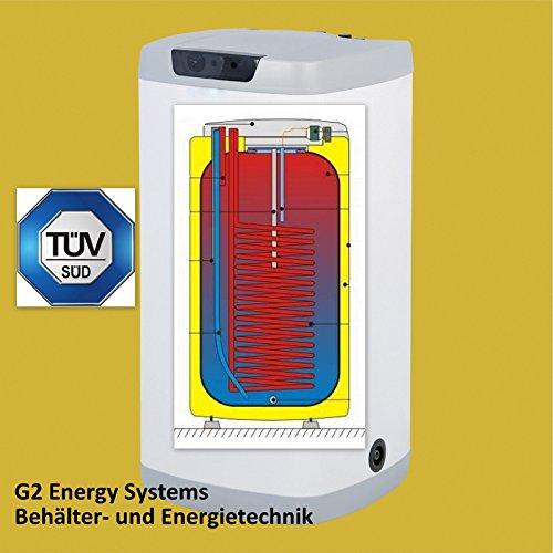 Preisvergleich Produktbild 100 Liter L indirekt beheizter Warmwasserspeicher Boiler Standspeicher