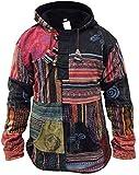 SHOPOHOLIC FASHION Hommes Patchwork rançonné Pull-over Veste - Multicolore, Medium