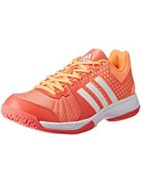 adidas Ligra 4, Zapatos de Voleibol para Mujer, Easy Coral/Ftwr White/Glow Orange