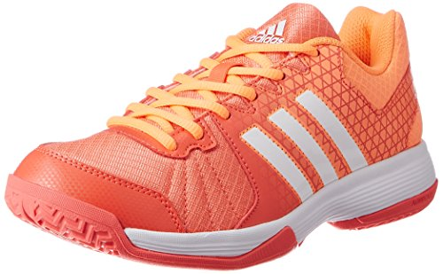 adidas Damen Ligra 4 Volleyballschuhe Orange (Easy Coral/ftwr White/glow Orange)